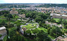 View of the gardens of the Vatican Stock Photos