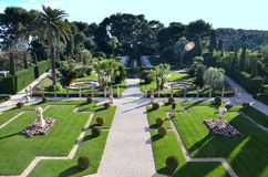 View on the gardens on villa Rothschild, French Riviera, France Stock Photo