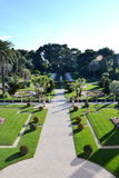 View on the gardens on villa Rothschild, French Riviera, France Royalty Free Stock Photography