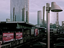 View of Garibaldi Station. With street light Royalty Free Stock Images