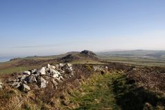 View from Garn Fawr, Pembrokeshire royalty free stock photo