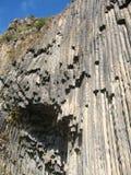 The view of Garni basalt Canyon in Armenia Stock Photo