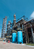 View gas processing factory. Royalty Free Stock Images