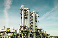 View gas processing factory. Stock Image