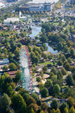View from gasometer on amusementpark in Oberhausen Stock Image