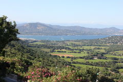 View from Gassin over Saint Tropez Bay Stock Images