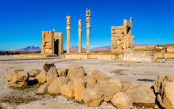 View of the Gate of All Nations in Persepolis Stock Image