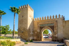 View at the gate Bab al-Amer in Fez city - Morocco Royalty Free Stock Photos