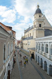 View from the Gate of Dawn(Ostra Brama) in Vilnius, Lithuania. Royalty Free Stock Images