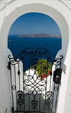 View through a gate, Santorini, Greece Royalty Free Stock Photography