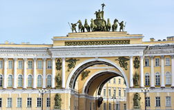 View of gate to Palace Square Stock Photography