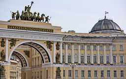 View of gate to Palace Square, St. Petersburg Royalty Free Stock Images