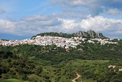 View of Gaucin, Andalusia, Spain. Royalty Free Stock Image