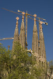View of Gaudi's Cathedral. Gaudi's Cathedral in Barcelona, Spain Royalty Free Stock Photos