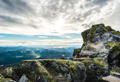 View from Gaustatoppen. Amazing view from Gaustatoppen, Norway. Picture from summer 2016 Royalty Free Stock Photography