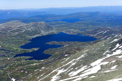 View from Gaustatoppen mountain at sunny summer day Royalty Free Stock Image