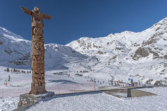 View at Gavarnie Gedre ski resort from picnic area Stock Photography
