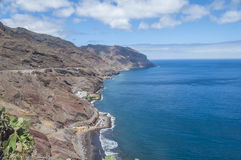 A view of Gaviotas Beach and North-East coast in Tenerife Stock Photos