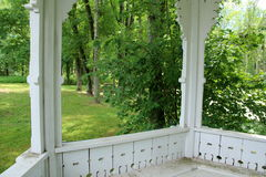 View from the Gazebo. Most of the time we see a picture of a Gazebo. I thought it would be interesting to view  the park from inside the gazebo Stock Photography
