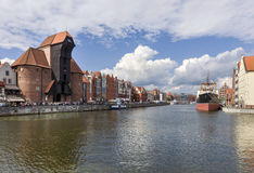 View of the Gdansk riverside Stock Photos