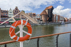 View of the Gdansk riverside Stock Photography