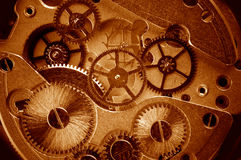 View of gears from old mechanism Stock Photography
