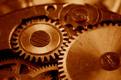 View of gears from old mechanism Royalty Free Stock Image