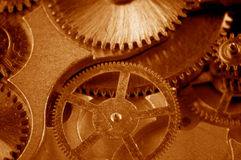 View of gears from old mechanism Royalty Free Stock Photography