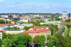 View from Gediminas castle to the old Vilnius Stock Image