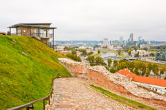 View from Gediminas hill in Vilnius Stock Photos