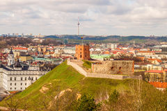 View of Gediminas Tower and the  city of Vilnius, Lithuania Stock Photography