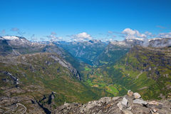 View of Geiranger Stock Photo