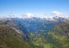 View of Geiranger Royalty Free Stock Image