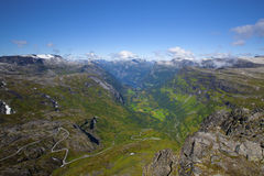 View of Geiranger Royalty Free Stock Photos