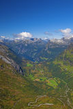 View of Geiranger Royalty Free Stock Photo