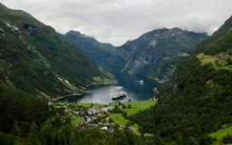 View of Geiranger, Norway Royalty Free Stock Image