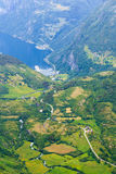 View on Geirangerfjord from Dalsnibba viewpoint in Norway Stock Photo