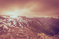 View on Geirangerfjord from Dalsnibba viewpoint in Norway Stock Images