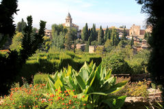 View from the Generalife, Alhambra, Granada, Spain Stock Photos