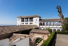 View of Generalife gardens in Alhambra in Granada  in Spain Stock Photos