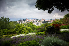 View from Generalife gardens Stock Image
