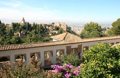 View from the Generalife, Granada, Spain Royalty Free Stock Image