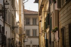 Details of Florence Italy. View of generic historic building in the centre of Florence, Italy royalty free stock images