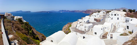 View of generic village at Santorini island Stock Images