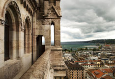 View of Geneva from Cathedral Saint Pierre, Switzerland Royalty Free Stock Image