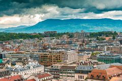 View of Geneva Old Town Stock Images