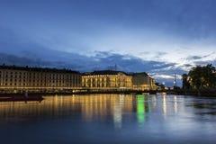 View on Geneva in Switzerland Stock Photo