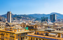 View of Genoa city - Italy Royalty Free Stock Image