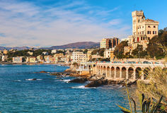 View of Genoa. Largest Italian port city Royalty Free Stock Photos
