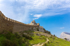 View of Genoese fortress Royalty Free Stock Photos